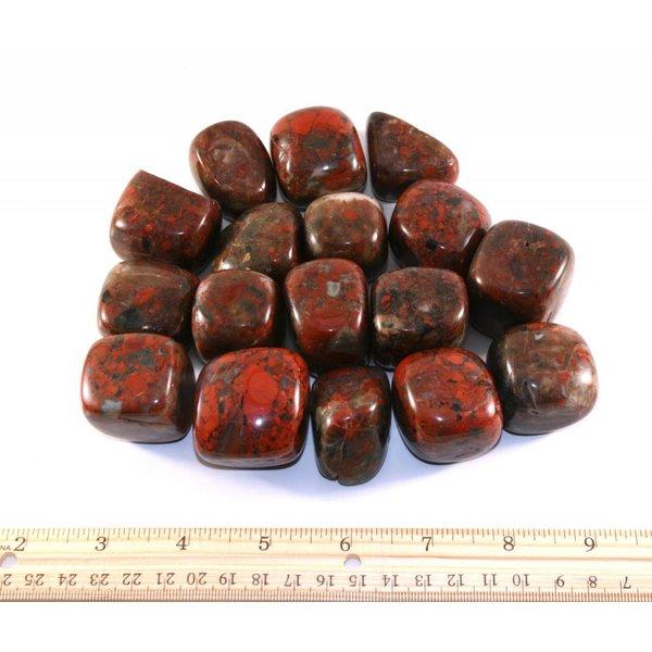 Brecciated Jasper - Tumbled XL (1 kg parcel)