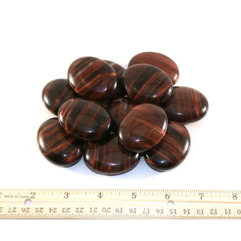 Red Tiger's Eye - Palm Stone Pillow  (12 piece parcel)