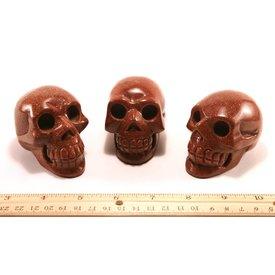 Goldstone - Skulls (3 inch)