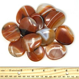 Banded Carnelian - Worry Stone (12 piece parcel)