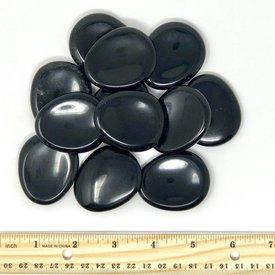 Black Obsidian - Worry Stone (12 piece parcel)