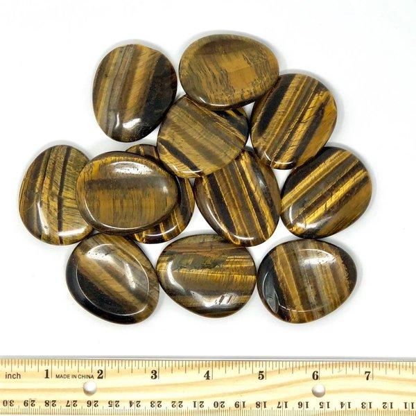 Tiger's Eye - Worry Stone (12 piece parcel)