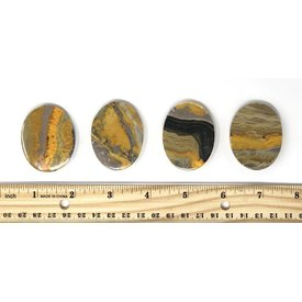 Bumble Bee Jasper - Palm Stone Large (individual)
