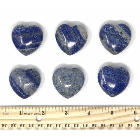 Lapis - Hearts 35mm (6 piece parcel)