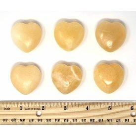 Orange Calcite - Hearts 35mm (6 piece parcel)