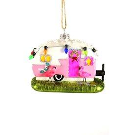 Flamingo Camper Ornament