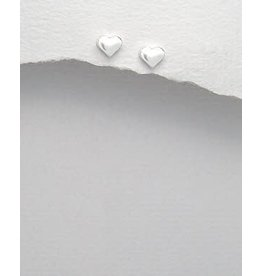 Sterling Studs- Hearts