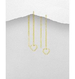 glimmer Gold Heart Threader