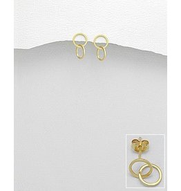 glimmer GOld DOuble Circle Studs