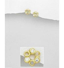 glimmer Gold Cz Earrings
