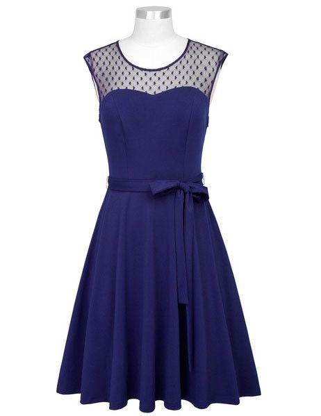 Frock It Sabrina Dress in Navy