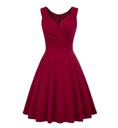Frock It Joselyn Dark Red Dress