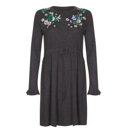 Yumi Dress-Dark Grey Embroidery