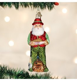 Old World Christmas Fly FIshing Santa Ornament