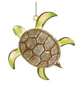 Kurt Adler Sea Turtle Glass Glitter Ornament