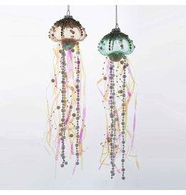 Kurt Adler Glass Jellyfish Christmas Ornament