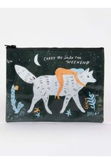 Blue Q Zipper Pouch- Carry Me Into The Weekend