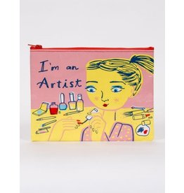 Blue Q Zipper Pouch- I'm An Artist