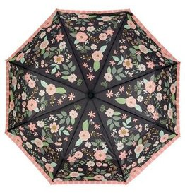 Karma Travel Umbrella- Charcoal Flower