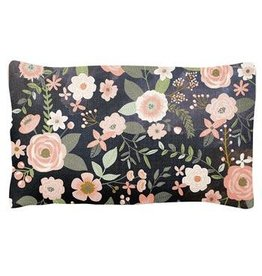 Karma Lumbar Pillow- Charcoal Flower