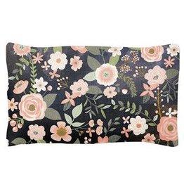 Karma Pillow- Charcoal Flower