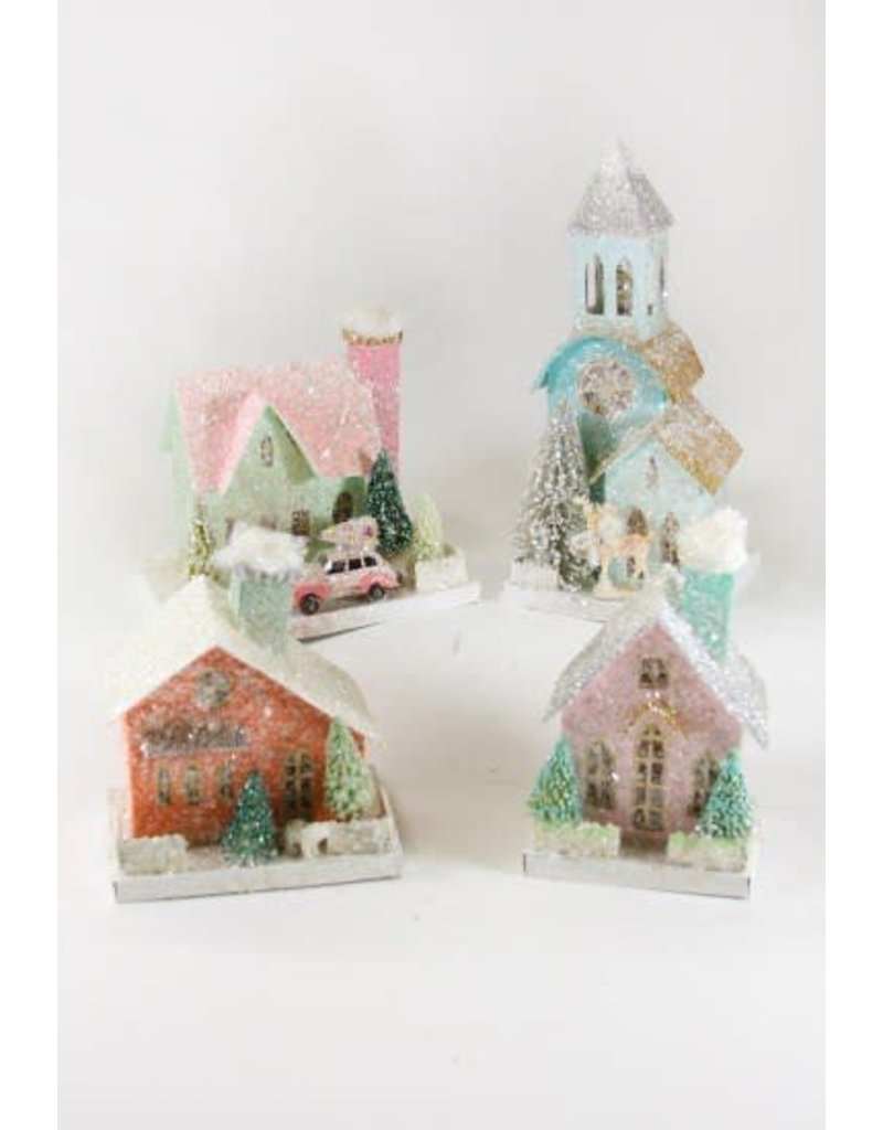 House & Church Pastel