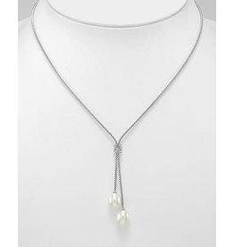 Sterling Necklace- Lariat Love Knots