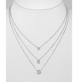 Sterling Multi CZ Necklace