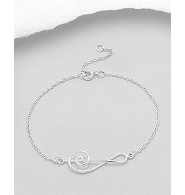 Sterling Bracelet- Treble Clef