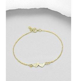 glimmer Double Hearts Bracelet