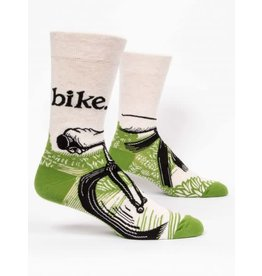 Blue Q Men's Socks-Bike Path