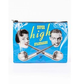 Blue Q Zipper Pouch-Super High Standards