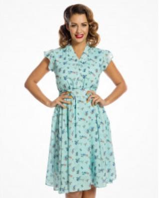 Vintage Bluebird Dress