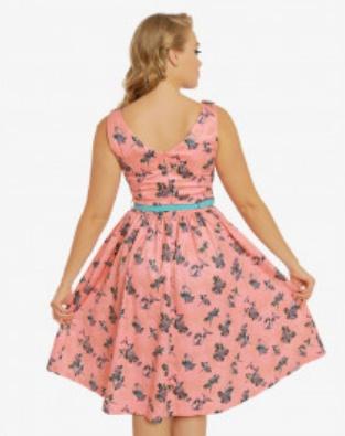 Delta Blush Budgerigars Dress