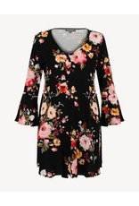 Papillon Cara Floral Dress w/Bell Sleeve