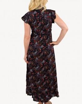 Papillon Ditsy Floral Print w/Ruffle Dress