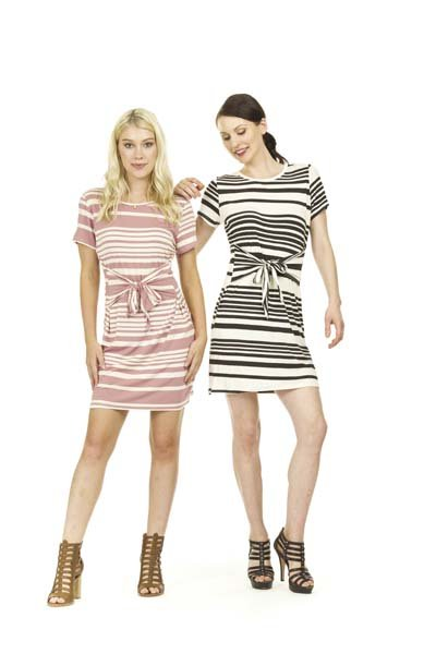 Papillon Helen Striped Jersey Knit Dress