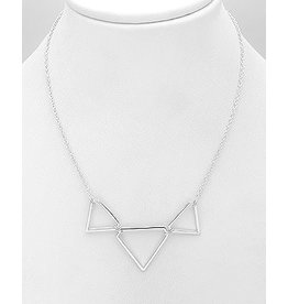 Sterling Triple Triangle Necklace