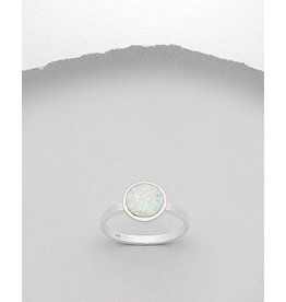 Sterling Ring- Opal Circle