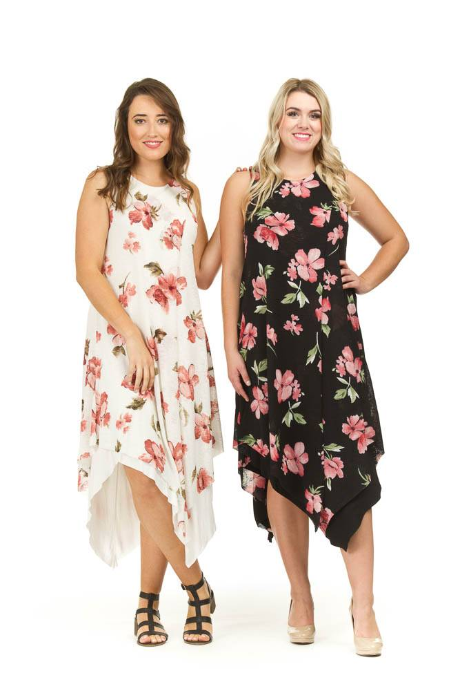 Papillon Olivia Floral Layered Dress