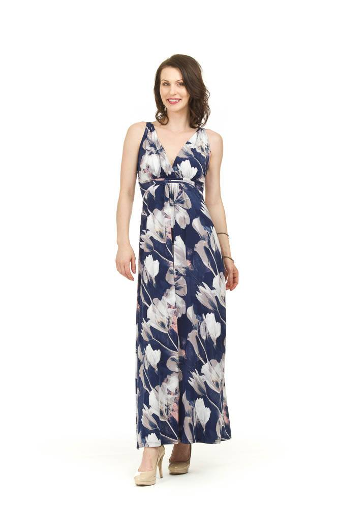 Papillon Roxanne Watercolour Grecian Dress