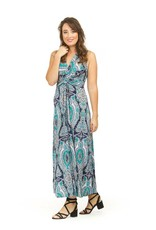 Papillon Deb Knot Front Paisley Maxi Dress