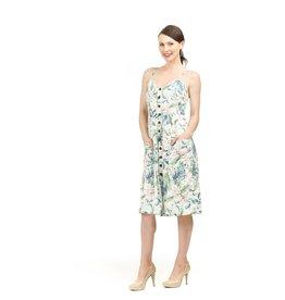 Papillon Meghan Leaf Print Button Dress