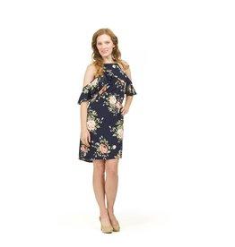 Papillon Misha Floral Cold Shoulder Dress