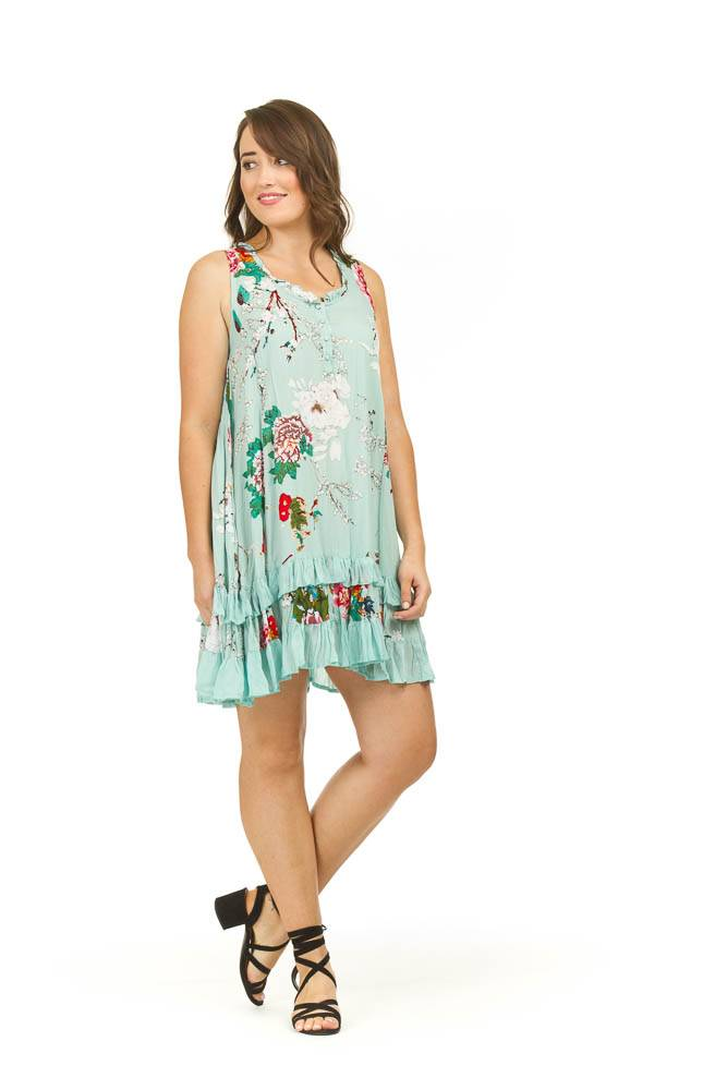 Papillon Bella Floral Ruffle Dress