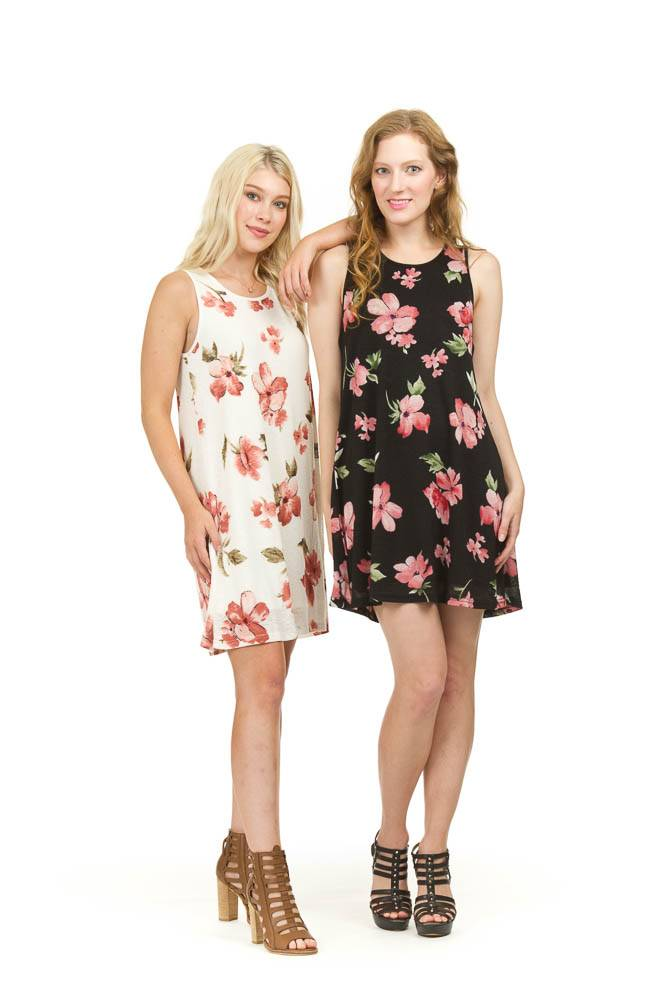Papillon Sharon Floral Print Mesh Dress (more colours)