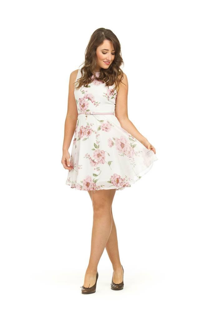 Papillon Catherine Floral Georgette Dress