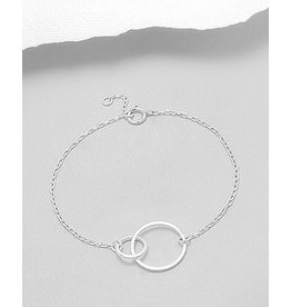 Sterling Bracelet- Double Circles