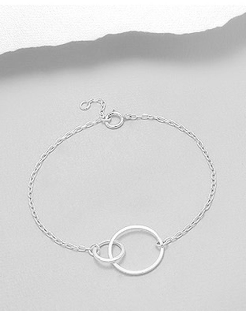 Sterling Bracelet- Double Circles