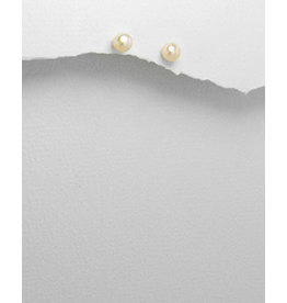 Sterling White Pearl Studs